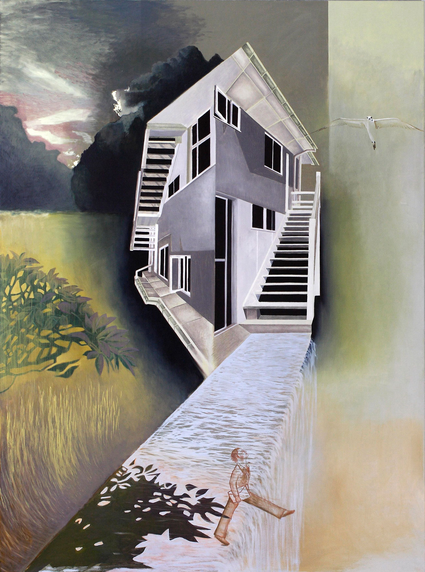 The Electric Thinking House 2007 Oil on Polyester 200 x 148cm