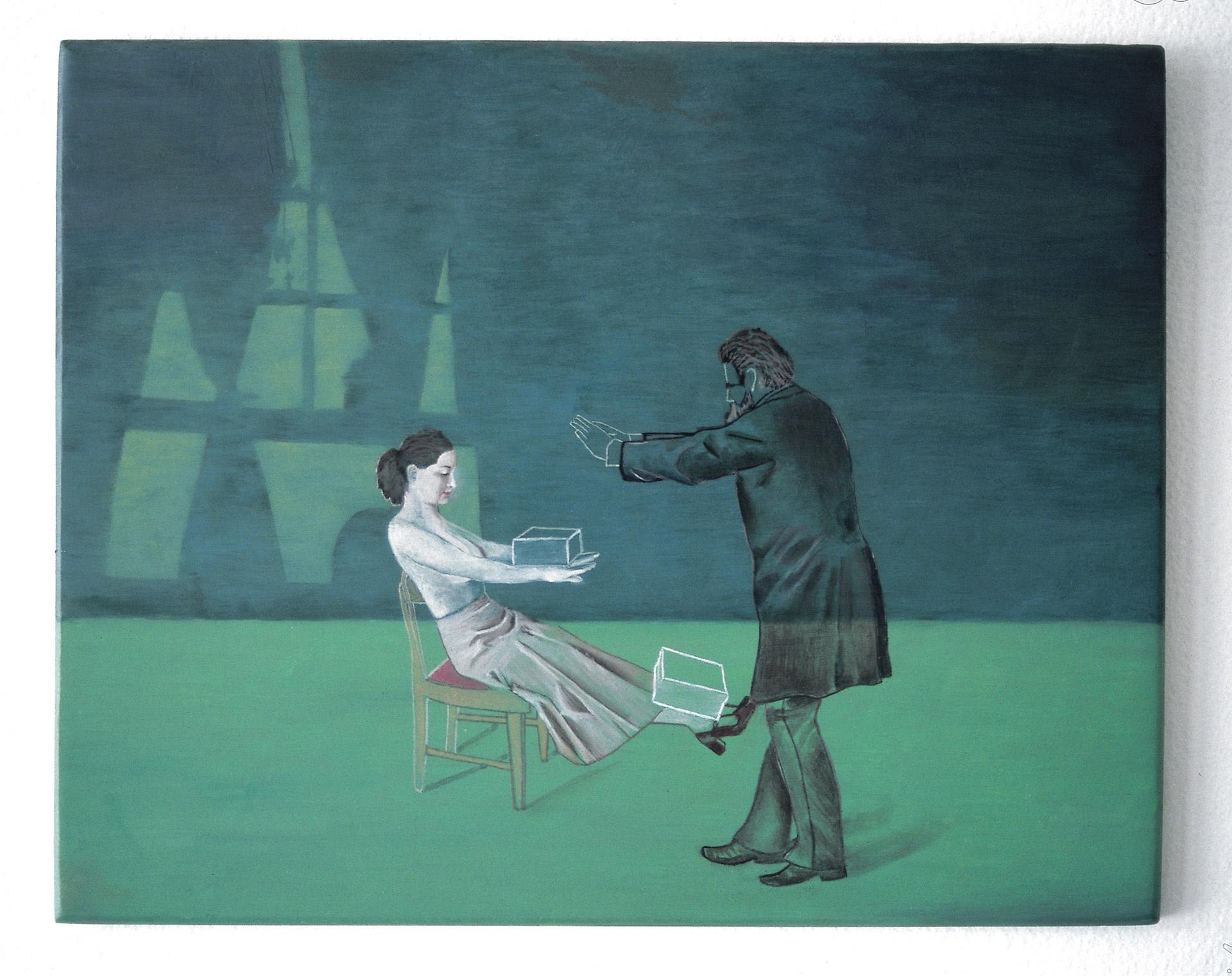 Madeleine Kelly Treatment for Hysteria 2003 Oil on gesso board 20 x 25.5cm