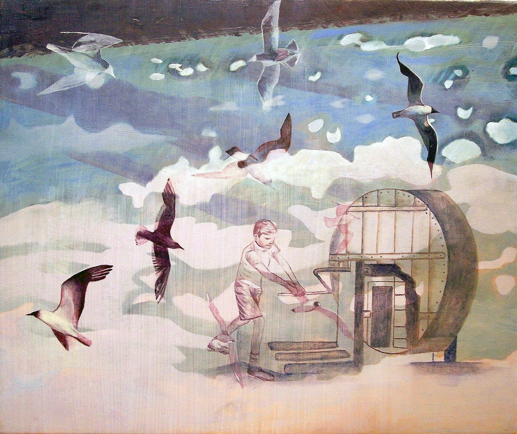 Madeleine Kelly Wheel of Reason 2006 23 x 28cm Oil on gesso board