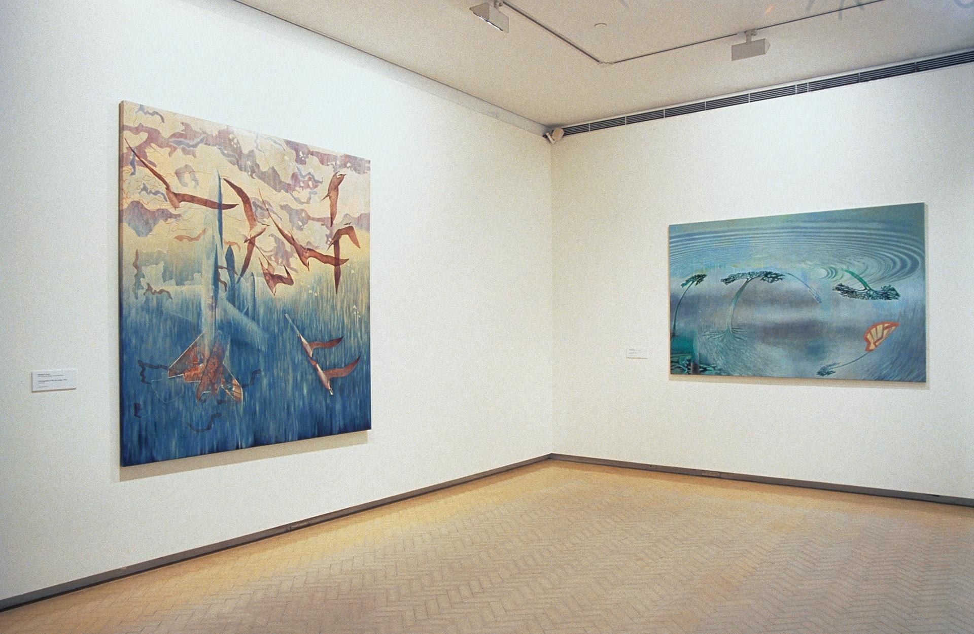 Madeleine Kelly Installation of paintings Primavera 2005, Museum of Contemporary Art, Sydney