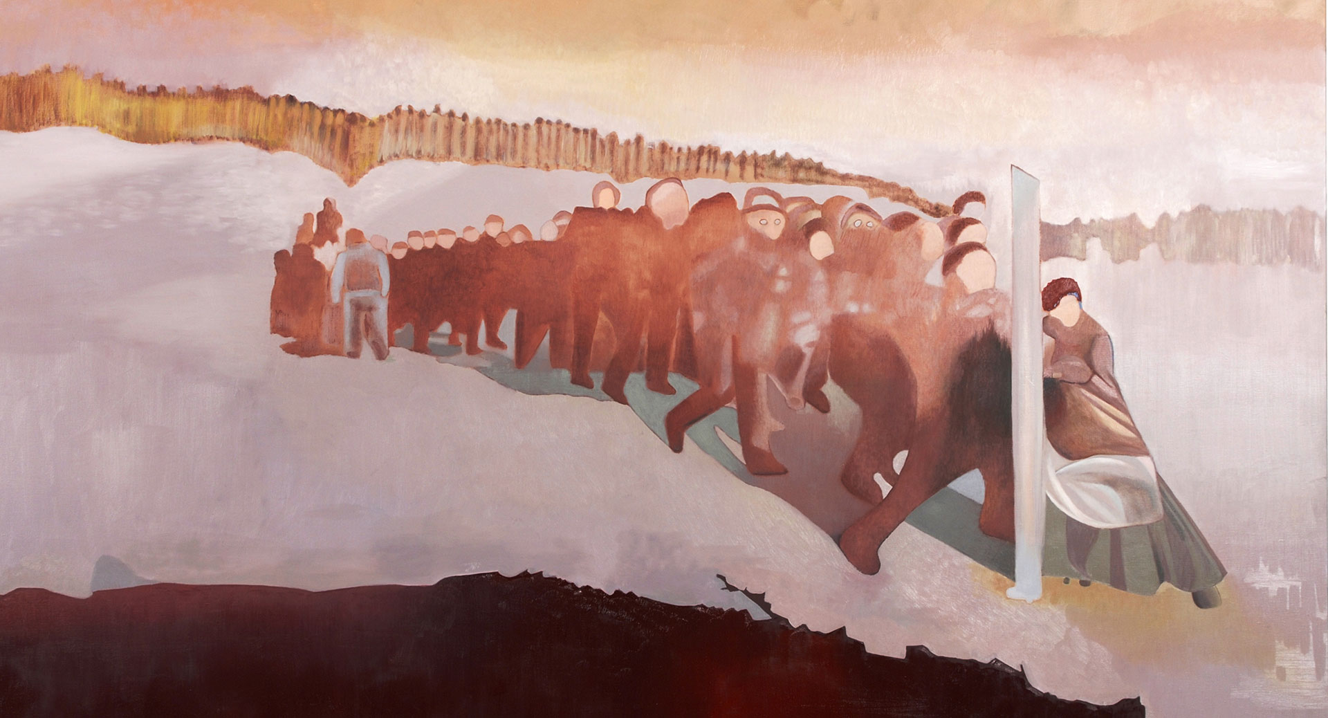 Madeleine Kelly Amona 2008 Oil on linen 150 x 240 cm