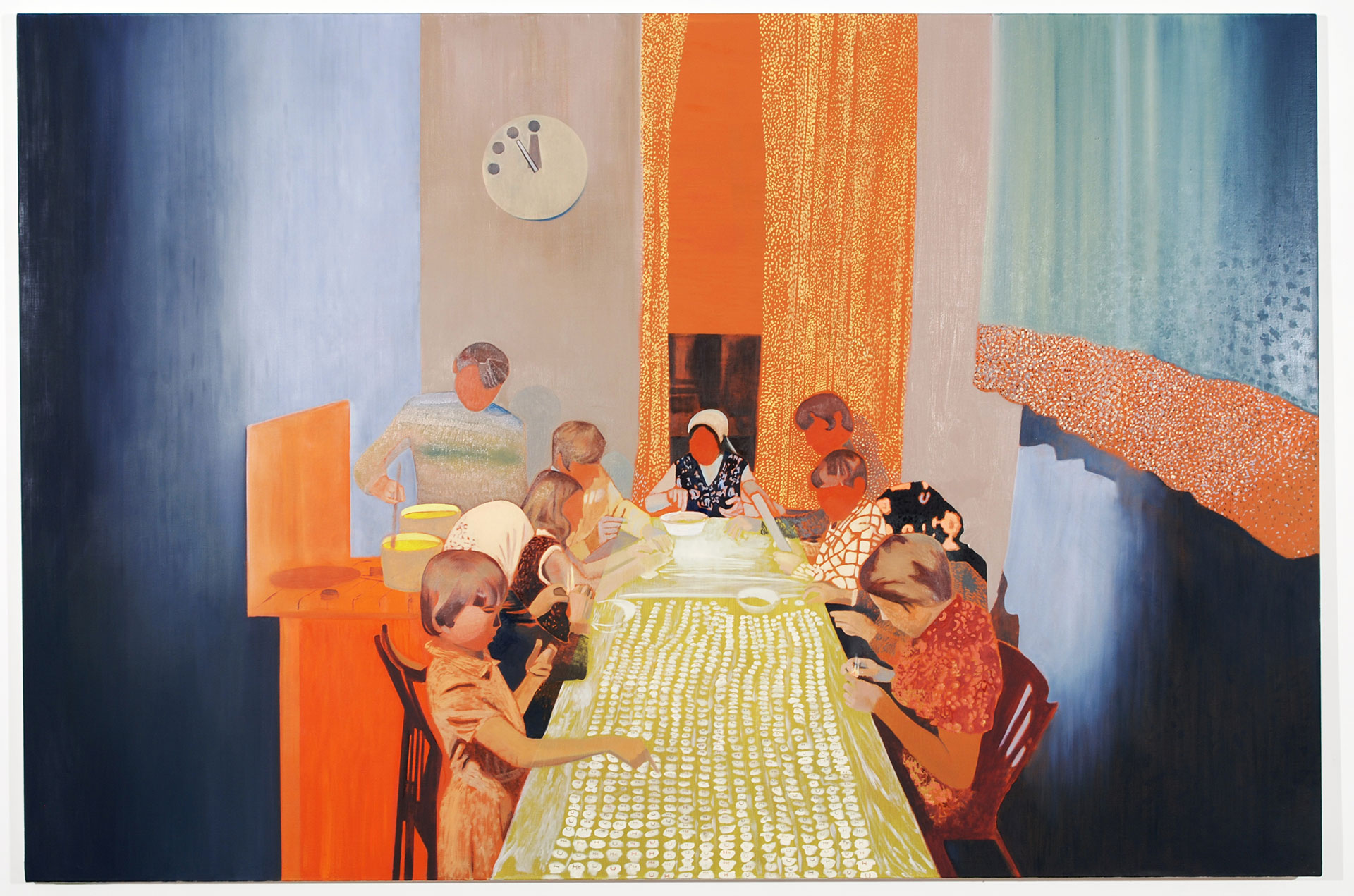 Madeleine Kelly Consumption 2008 Oil on linen 180 x 270cm