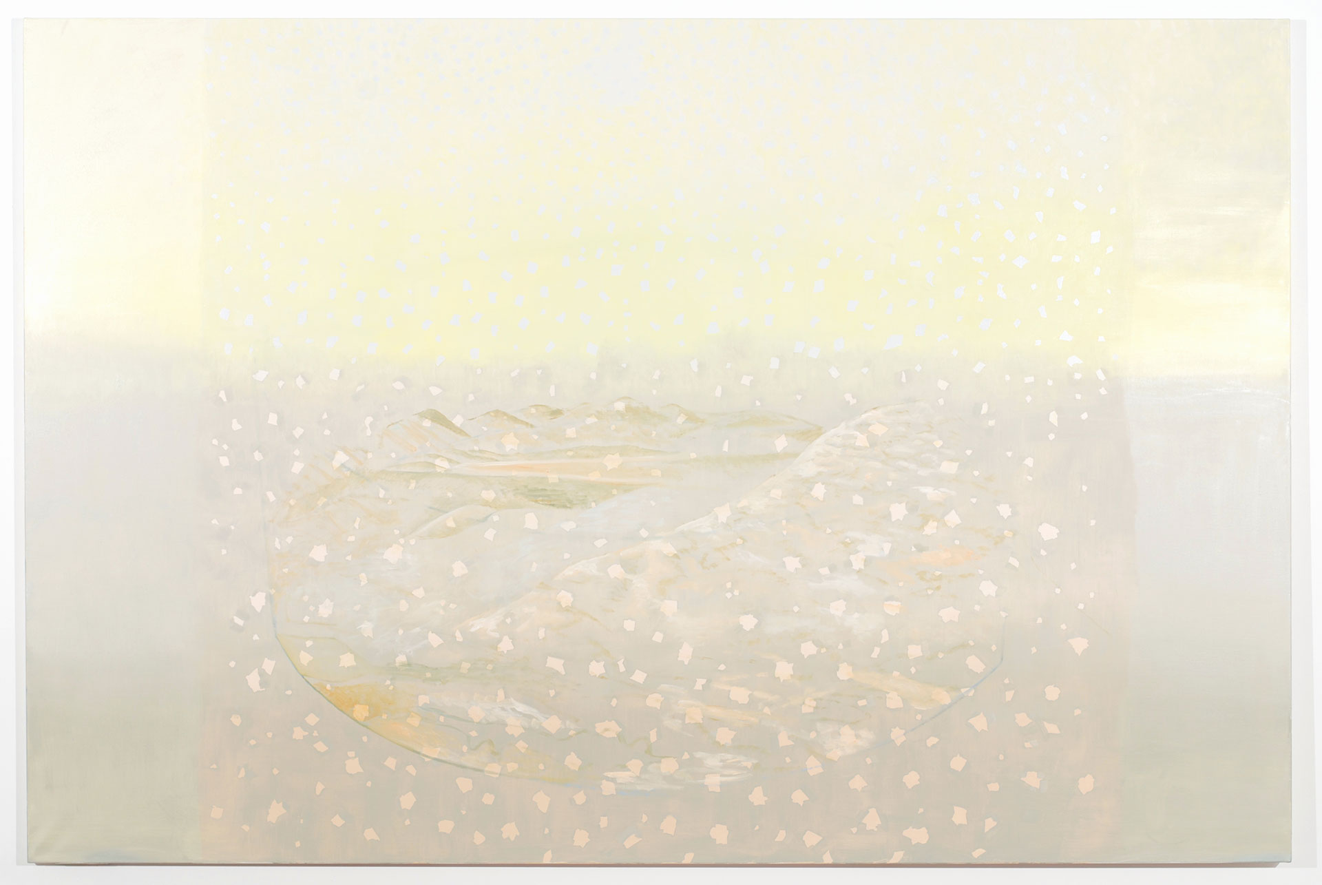 Madeleine Kelly Fallout 2008 Oil on linen 180 x 270 cm