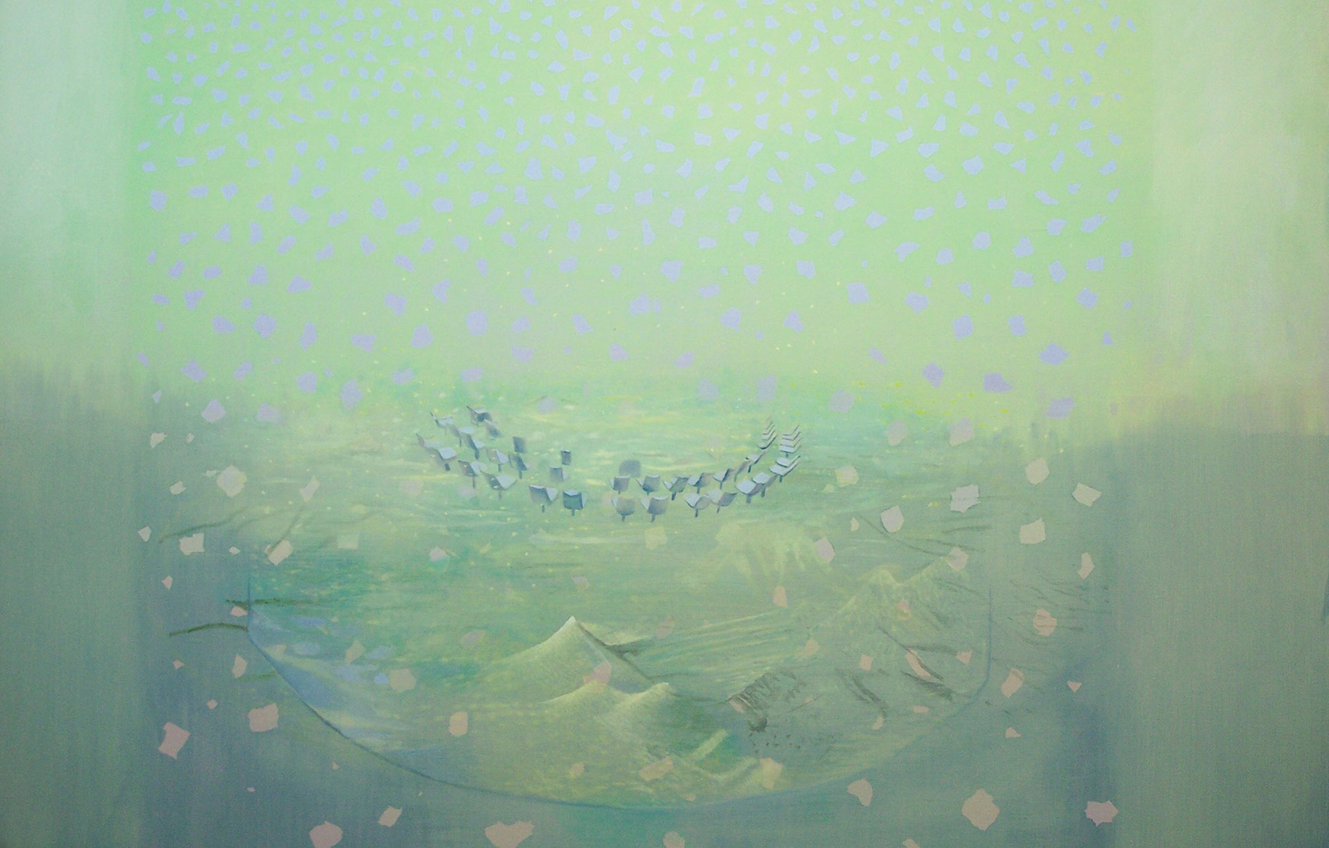 Madeleine Kelly Victory Over the Sun 2008 Oil on polyester 133 x 190cm