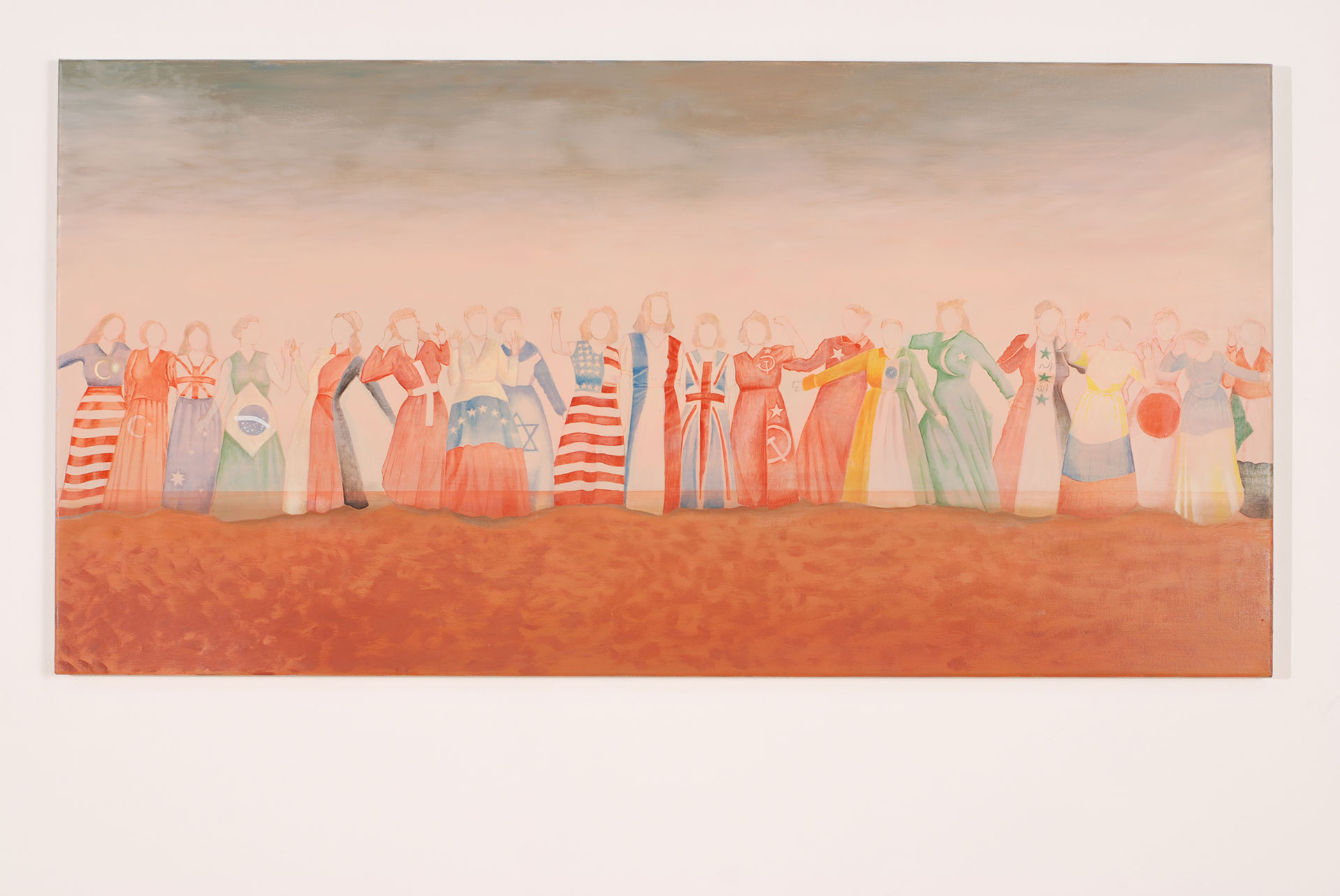 Madeleine Kelly The World as I Know it 2008 Oil on polyester 68 x 135 cm
