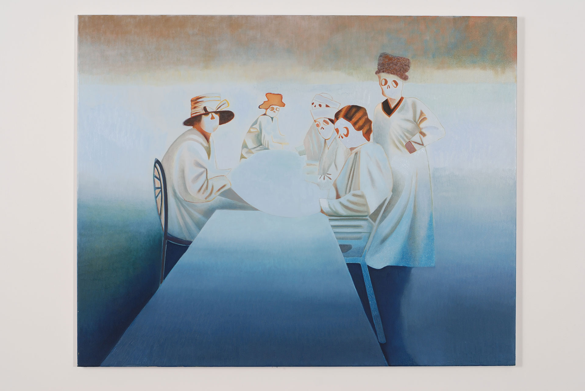 Madeleine Kelly What Begins Aloud 2008 Oil on Polyester 120 x 150cm